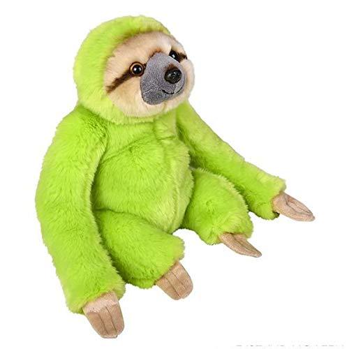 Wildlife Tree 9 Inch Bright Green Sloth Plush Stuffed Animal Floppy Rainbow Prism Collection