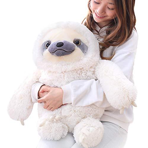 Winsterch Kids Sloth Stuffed Animal Toy Plush Sloth Baby Doll Kids Birthday GiftsIvory 197 inches