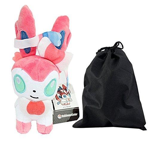 Pokemon Sylveon Plush Toys Stuffed Doll With Gift Bag And Free Gift - 4 Model Balloons
