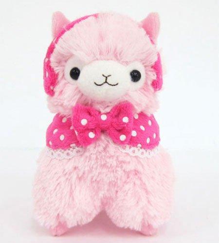 Llama Earmuffs Alpaca 45 Prime Plush Keychain Pink