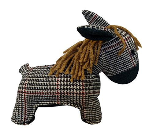 3Cats Stuffed Donkey Toy Realistic Decorative Plush Donkeys Black