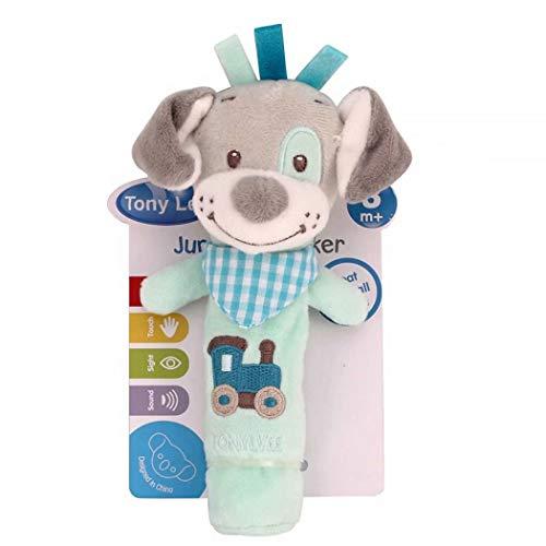 HeyuniFashion Plush Donkey Animal Baby Hand Shake Bell BB Rattle Squeaker Stick Education Game Gift Funny Funny Child Adult Men and Women