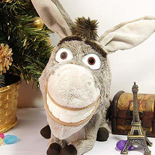 The Donkey Plush Shrek Plush Soft Plush for Kids Animal Plush Toy Gray