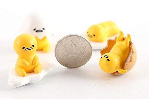 WOBÂ 4 pcs Gudetama Mini Figures Toys Miniature figures Collection Gift