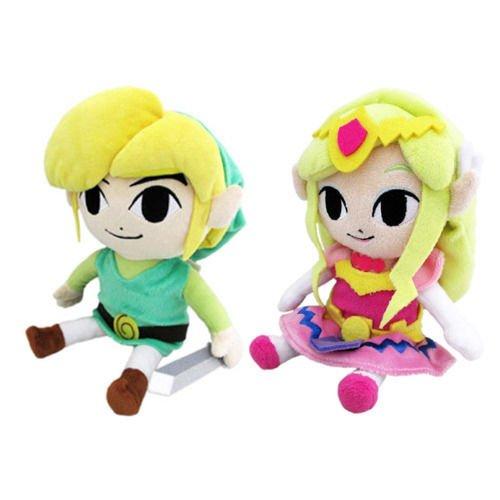 New Set of 2 Little Buddy Legend of Zelda 8 Link 8 Princess Zelda Plush