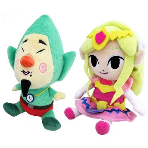 Set of 2 Sanei Legend of Zelda Wind Waker 8 Tingle 8 Princess Zelda Plush