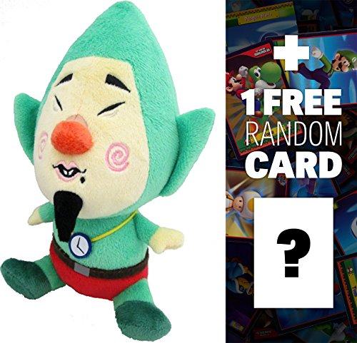 Tingle ~8 The Legend Of Zelda - Wind Waker Plush  1 FREE Official Nintendo Fun Card Bundle