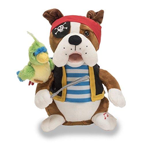 Cuddle Barn Animated Singing Plush Toy Bulldog Bops Pirate Pete