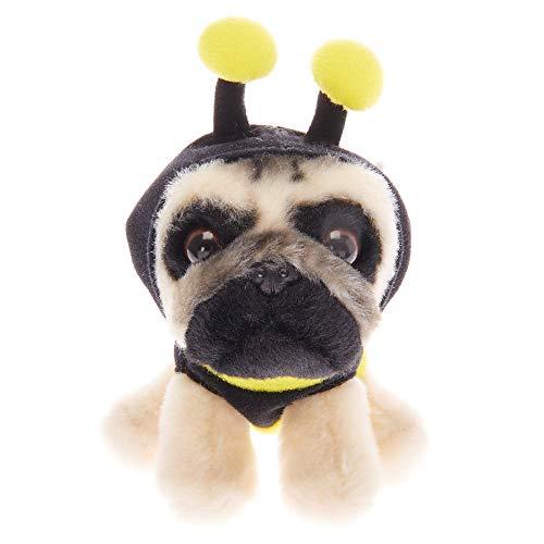 Claires Doug The Pug Girls Doug The Pug Small Bumble Bee Plush Toy - Cream