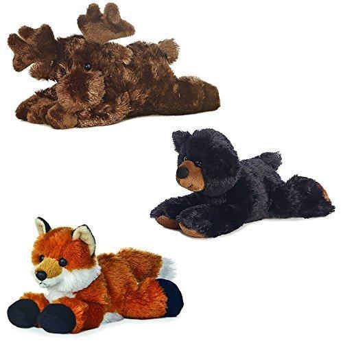 Aurora Maxa Moose Sullivan Black Bear Foxie Fox Mini Flopsie 8 Bundle