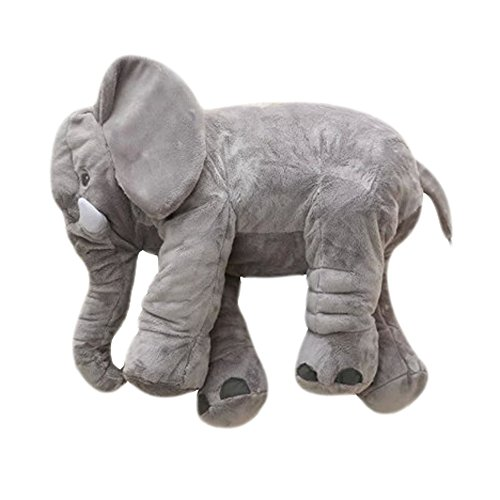 MorisMos Elephant Pillow Stuffed Animal Toy Plush Toy for Baby Children Kids Gift Grey 24 inch 60x45x25cm