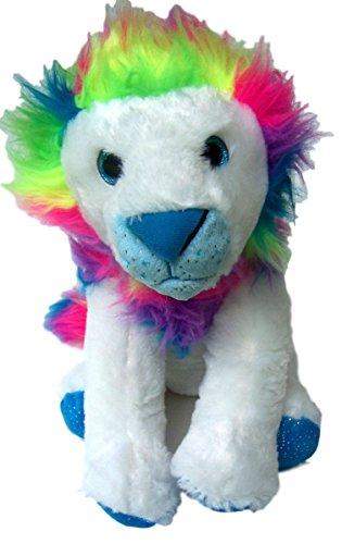 The Petting Zoo Rainbow Maned Lion Plush Stuffed Animal Medium