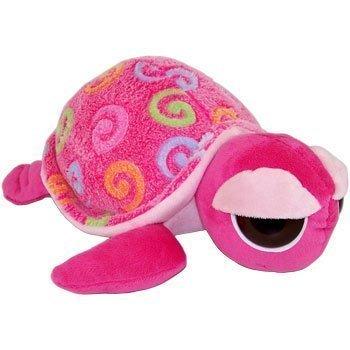Fiesta Plush - Color Swirls - BIG EYE TURTLE Bubble Gum Pink - 12 inch by Fiesta Toys