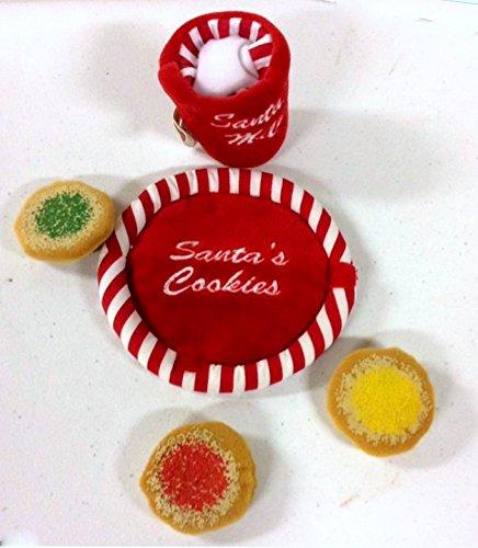 Build a Bear Sugar Cookies Milk for Santa 5 pc Plush Teddy Bear Accessory Holiday Toy Set