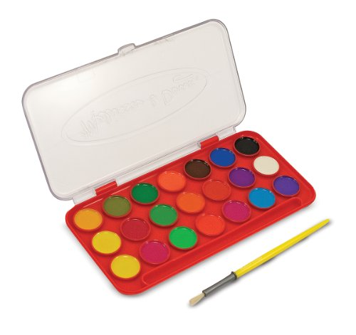 Melissa Doug Deluxe Watercolor Paint Set With 21 Paints and Paintbrush