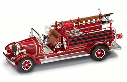1932 Buffalo Type 50 Fire Engine Montville NJ Red - Yatming 43005 - 143 Scale Diecast Model Toy Car
