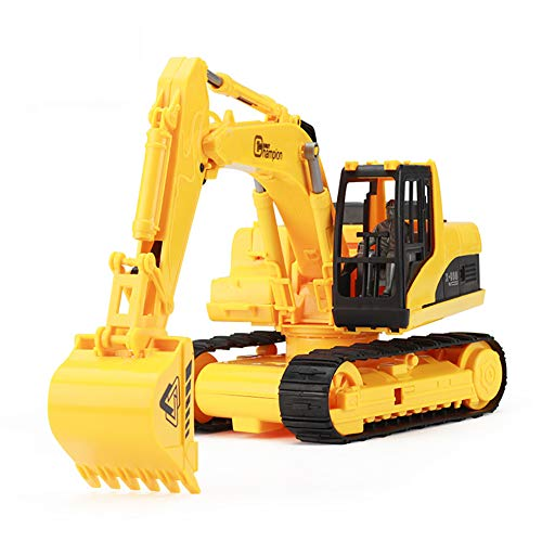 ROCK1ON Toy Excavator Model for Kids Diecast Construction Vehicles Toy 360 Degree Rotation Early Learning Gift for Children Boys Girls
