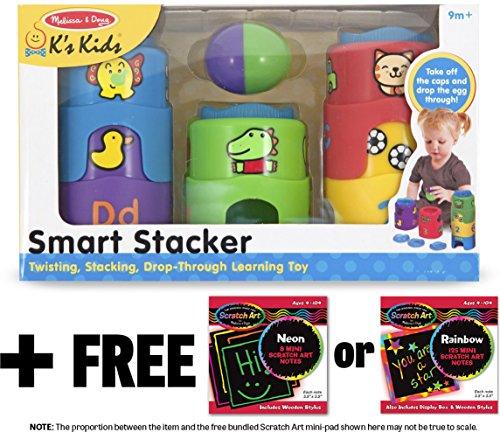 Ks Kids Smart Stacker  FREE Melissa Doug Scratch Art Mini-Pad Bundle 91862