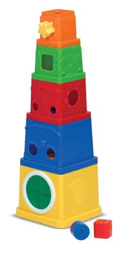 Melissa Doug Ks Kids Stacking Blocks Set With Sorting Shapes