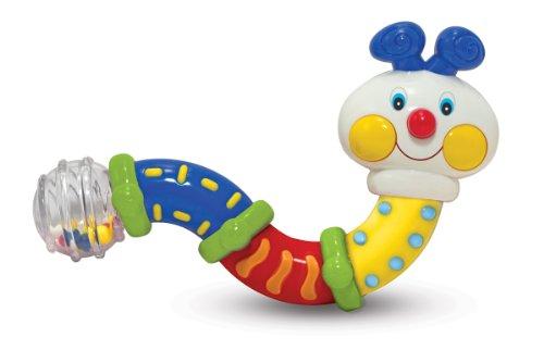 Melissa Doug Ks Kids Twisting Inchworm Multi-Sensory Rattle Baby Toy