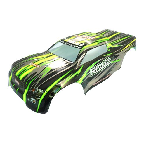 Iron Track Atomik RC Truck Body - BlackGreen for Iron Track Raider RC Monster Truck Vehicle
