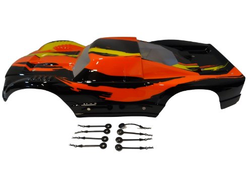 Rovan RC Truck Body Very Strong PC Material black  orange