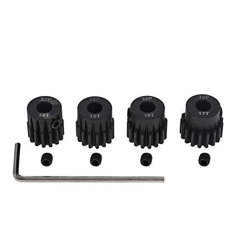 4Pcs 14T 15T 16T 17T Steel 32p Pinion Gear 5mm Bore for 18 110 RC Car Motor