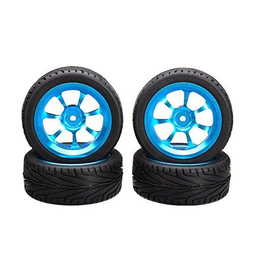 A-alloy Rims Tires RC Car Wheels For 118 WLtoys A959 A969 A979 K929 item GHU-75LOP-J5700
