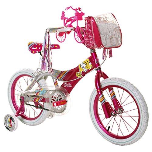Barbie 16 Girls Bike with Stylish Barbie Bag Streamers and Spoke Art Pink