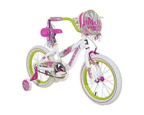 Dynacraft 8054-83ZTJ Girls Maui Miss Magna Bike WhitePinkGreen 16-Inch