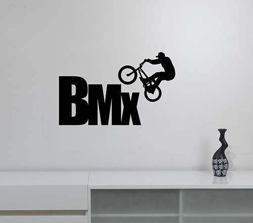 BMX Rider Silhouette Vinyl Wall Sticker Freestyle Decal Urban Extreme Sports Art Decorations for Home Kids Boys Room Biker Decor Ideas bmx4