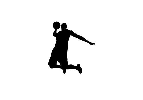 Basketball Player Silhouette Vinyl Decal Jumpman Slam Dunk Wall Sticker Sports Art Home Interior Decorations Kids Children Boys Room Bedroom Decor 15korl