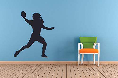 Football Player Sports Teen Athlete Ball Wall Sticker for BoysGirls Nursery Bedroom Kids Children World Cup Sport Fans Home Rooms Art Murals Decals Wall Art Vinyl Decoration Size 20x18 inch