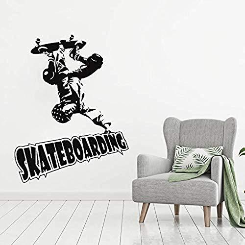 Skateboarder Extreme Sport Art for Kid Room Removeable Baby Sport Bedroom Decor Livingroom n Wall Decals Decor Vinyl Sticker IR3695