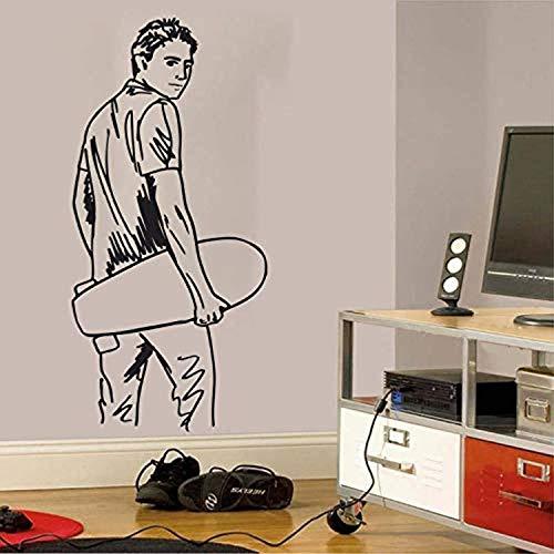 for Kids Room Skateboarder Extreme Sport Art Removeable Bedroom Livingroom Home Decoration Wall Decals Decor Vinyl Sticker IR3625