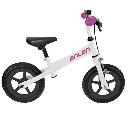 Anlen Steel Frame BalanceRunning Bike Kids Bike 12 inch Wheels Girls Bike Pink