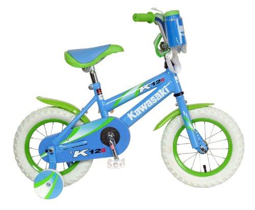 Kawasaki Monocoque Kids Bike 12 inch Wheels 8 inch Frame Girls Bike Blue
