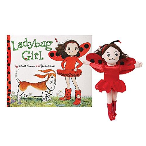 Girls Ladybug Girl Book And Plush Stuffed Doll Gift Set