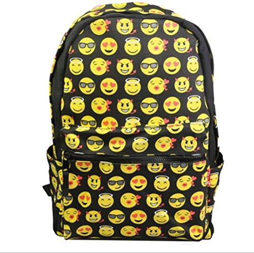 Yonger Kid Emoji Backpack Girl Book School Bag Smiley Bookbag Boys Satchel Daypack