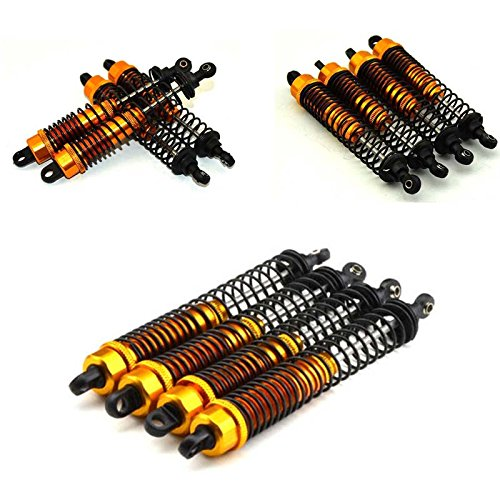 130mm Gold Alloy Dampers 4 - Oil Shocks for 110 Rc Crawlers Suit Axial