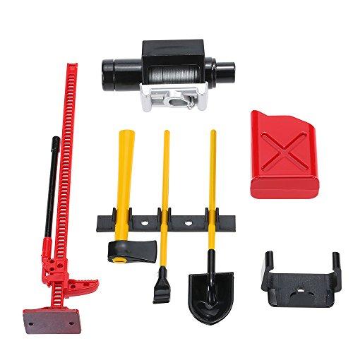 Goolsky 6Pcs AUSTAR 10008 RC Decoration Tool Set Kit RC Accessories for 110 RC Rock Crawler