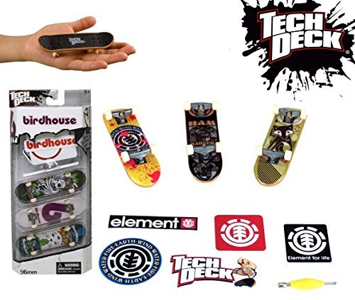 Tech Deck 96mm 3-Pack Skateboard Bonus Set with Stickers Styles and Colors Vary