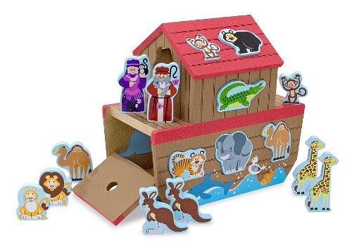 Melissa Doug Noahs Ark Wooden Shape Sorter Educational Toy 28 pcs