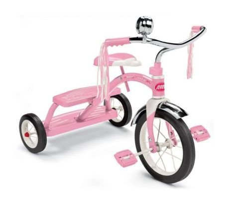 New Radio Flyer Tricycle Pink Classic Dual Deck Kids Trike Ride On Bike Toddler by Greenland Love