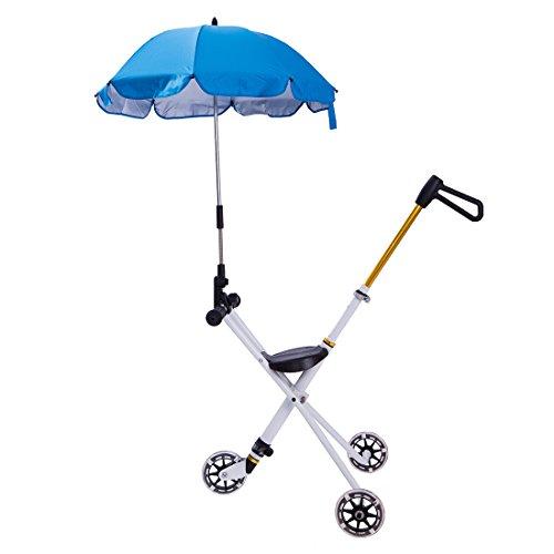 Children Portable Trike Lightweight Tricycle Stroller Wagon with Umbrella Sunshade