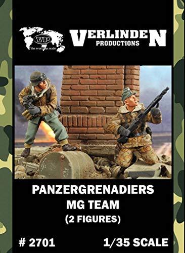 Verlinden 135 Panzergrenadiers MG Team - 2 Resin Figures Kit 2701