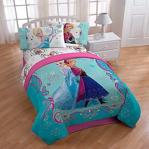 DisneyFrozen Anna and Elsa Springtime TwinFull Floral Bed Comforter for Girls