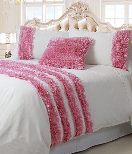 Isabelle - Pink Luxury Girls Comforter 3 Piece Set Queen