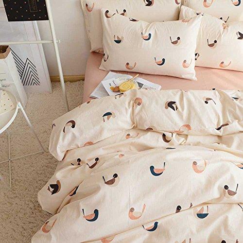 VM VOUGEMARKET Love Birds Duvet Cover Set Queen3 Pieces Cotton Girls Cute Beige Duvet Cover with 2 PillowcasesLightweight Luxury Bedding Set -FullQueenLove Birds