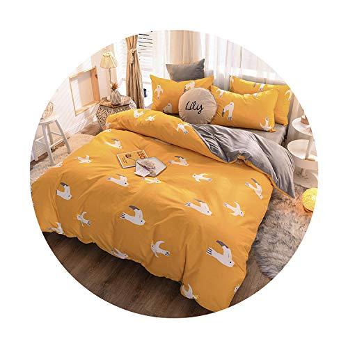 sunshine-xj 3pcs4pcs Cotton Bedding Sets Coral Fleece Duvet Cover Flat Sheet Pillowcase Winter Warm Flannel Bed Set Kids Bedding Sets13for 2M Bed-4pcBed Sheet